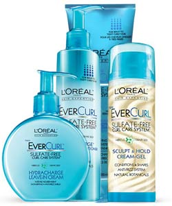 L'Oreal Paris EverCurl products for coily hair