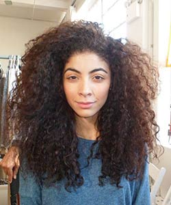 Curly Model at L'Oreal Paris EverCurl video shoot