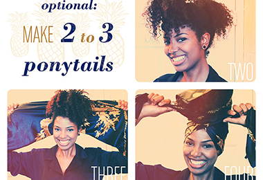 How to Pineapple Coily Hair