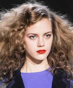 Marc Jacobs curly haired Model at New York Fashion Week Fall 2013
