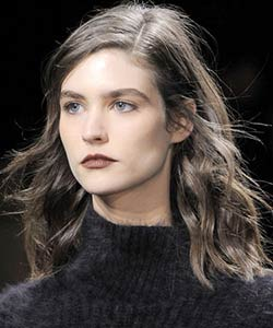Phillip Lim wavy haired model at New York Fashion Week Fall 2013