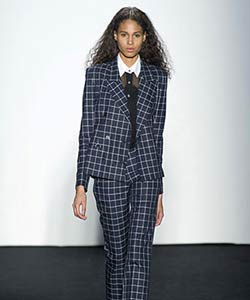 Timo Weiland curly haired model at New York Fashion Week Fall 2013