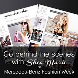 Blogger PeaceLoveShea at Fashion Week