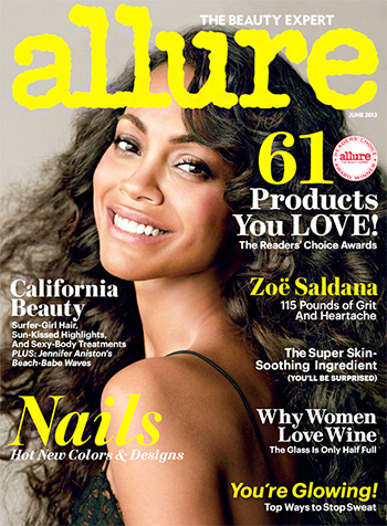 Zoe Saldana Allure Magazine