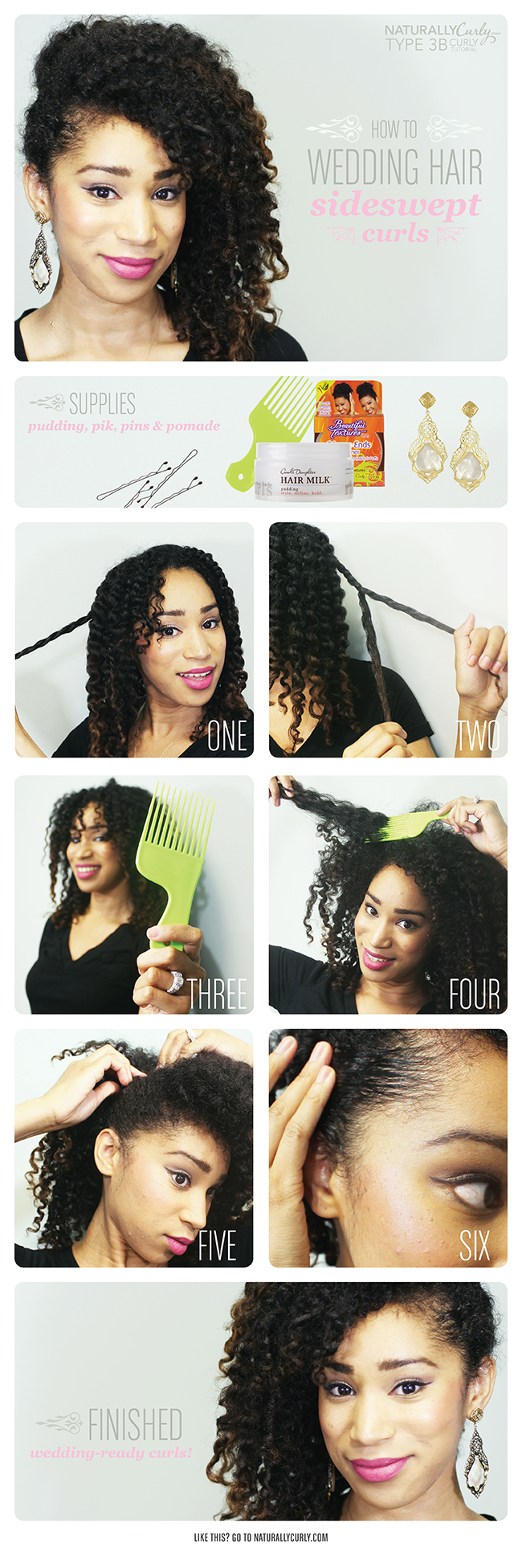 curly wedding hairstyle tutorial | video | naturallycurly