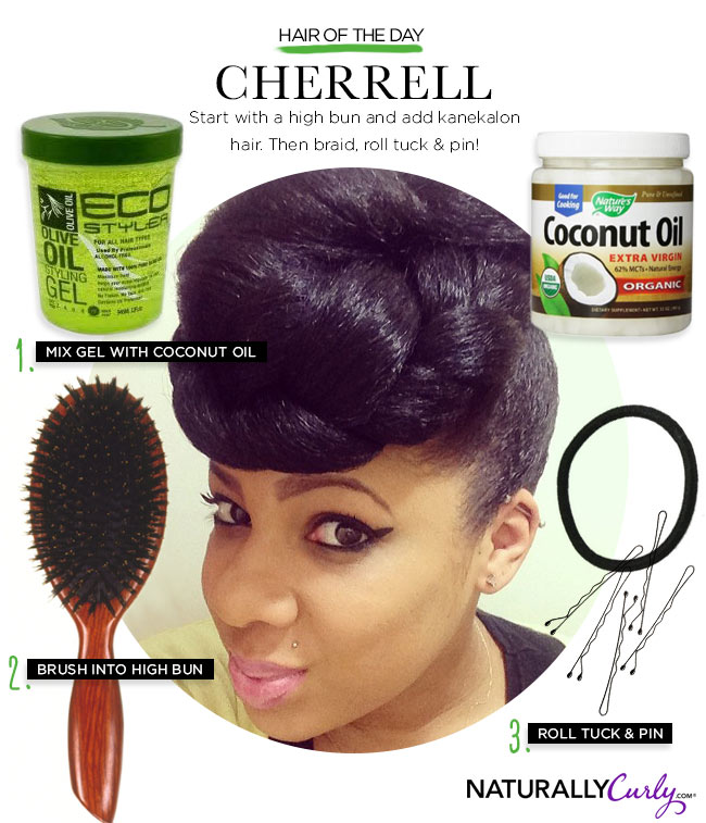 How To Get A Natural Hair Top Knot
