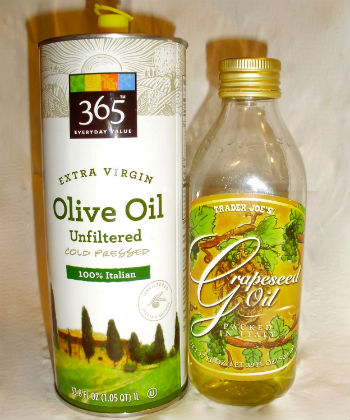 olive oil and grape seed oil