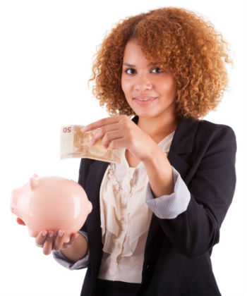 curly saving money