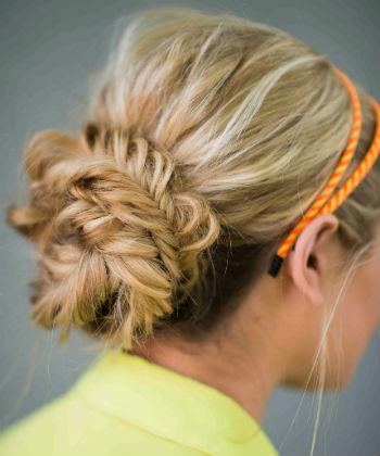 braided fishtail bun