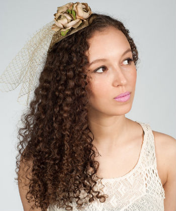 curly girl flapper crown