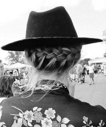 goddess braid under a hat