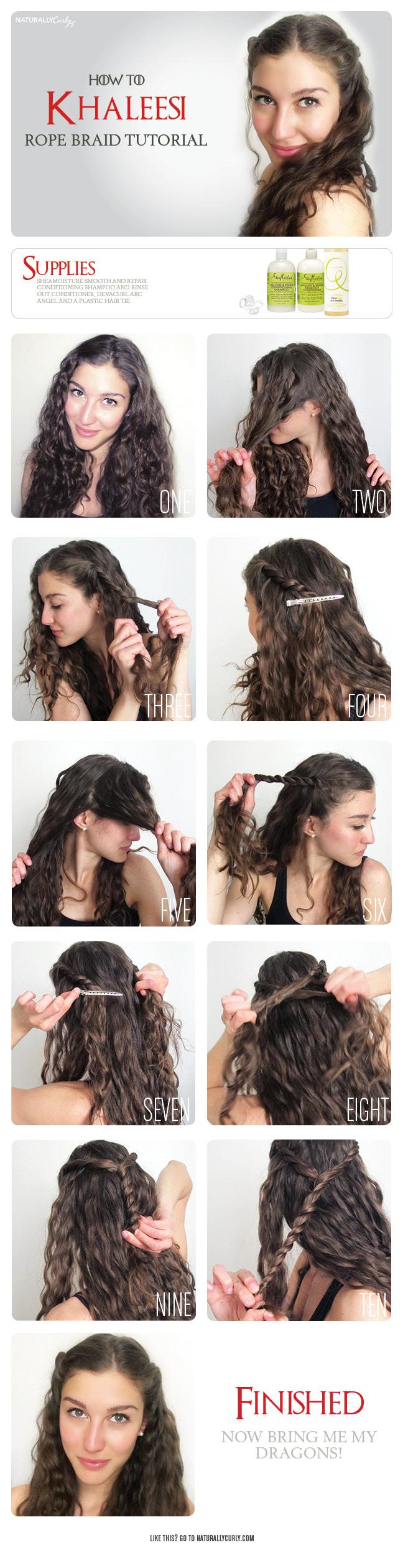 khaleesi rope braid