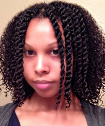 damp wash and go hair