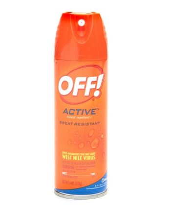 Off Sweat resistant insect repellent