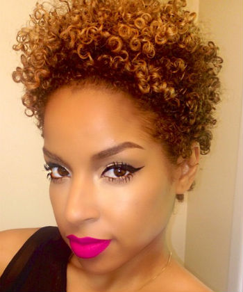 tapered hairstyle twa