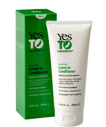 yes to cucumbers color care leave in