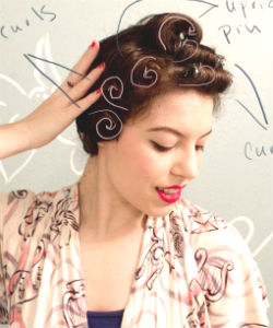 Vintage Pin Curls On A Blow Out