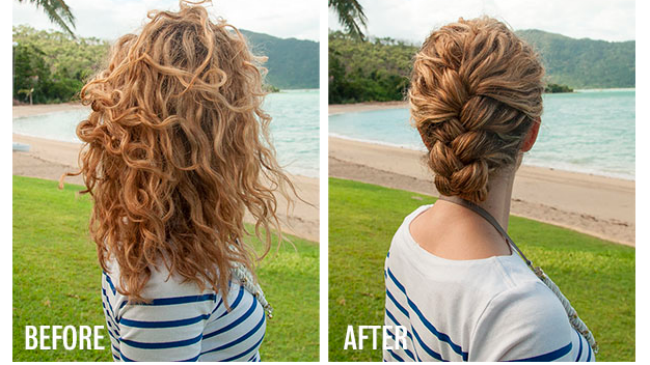 Easiest Tucked French Braid Tutorial Ever