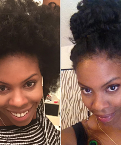 How to Turn Your Old Fro into a Protective Style - in 10 Minutes!