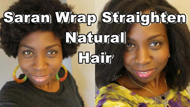Saran Wrap Method Natural Hair