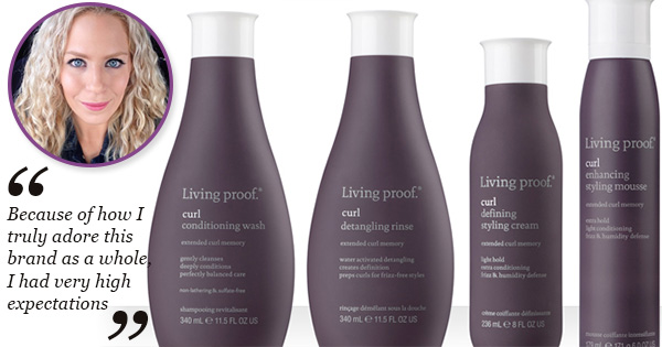Curly Review The Living Proof Curl Collection