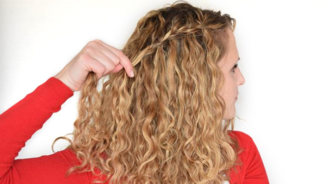 waterfall braid curly hair