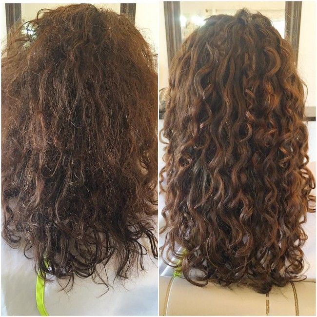 Curly Girl Method Natural Hair Before And After