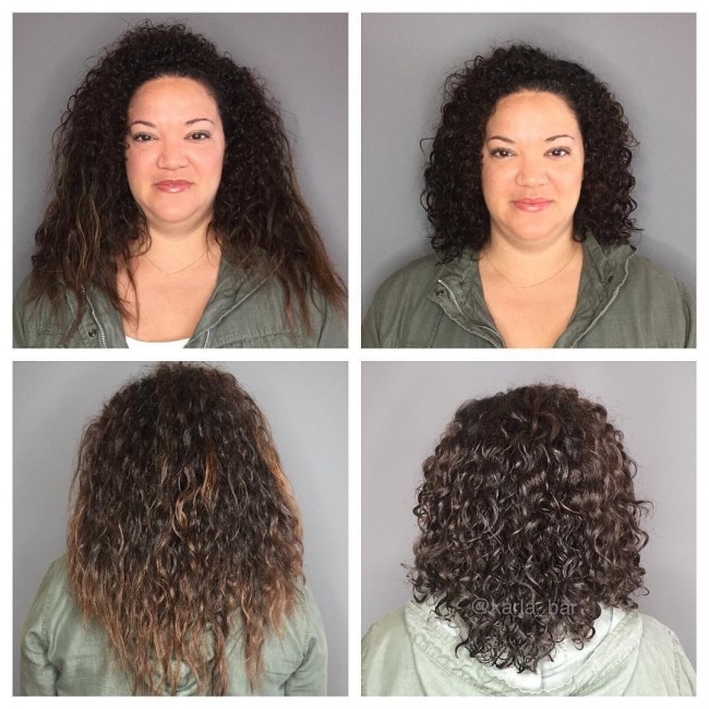 Pleasing 15 Curly Hair Transformations You Have To See To Believe Hairstyle Inspiration Daily Dogsangcom