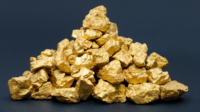 Several gold nuggets