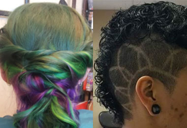 Rock On! How 2 Austin Stylists Are Cutting Curly Hair - Punk Rock Style