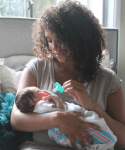 How I Care for My Curls While Raising a Newborn