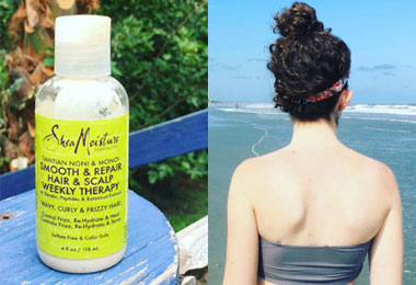 Minimalists Will Love This Curly Beach Routine